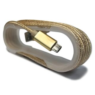 USB data kabal authentic PERTLA microUSB zlatna