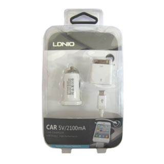 Auto punjac LDNIO DL-213 2.1A (micro.adapter za Iphone 4)