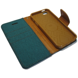 Futrola BI FOLD MERCURY Canvas za Iphone 5G/5S/SE zelena