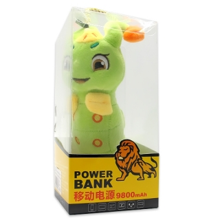 Power Bank DRAGON 9800mAh gusenica zelena