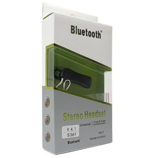 Bluetooth headset S-361 crni