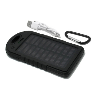 Power Bank SOLAR 5000 mAh crna