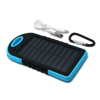 Power Bank SOLAR 5000 mAh plava