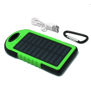 Power Bank SOLAR 5000 mAh zelena