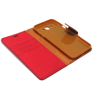 Futrola BI FOLD MERCURY Canvas za Samsung J710 Galaxy J7 2016 bordo