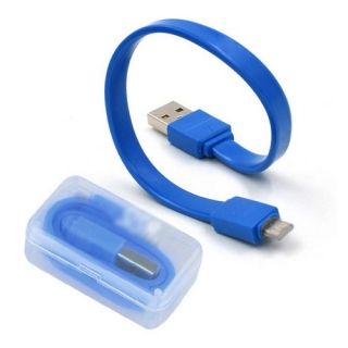 USB data kabl CANDY lightning 20cm plavi