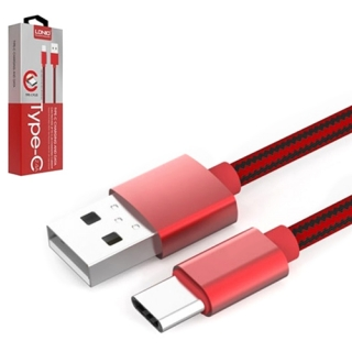 USB data kabal LDNIO LS60 Type C 1m crveni