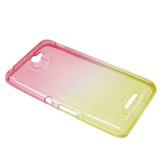 Futrola silikon DOUBLE COLOR za Sony Xperia E4 roze/zuta