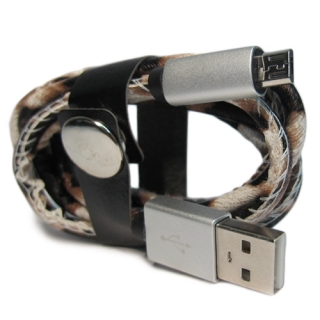 USB data kabal LEATHER safe microUSB 015