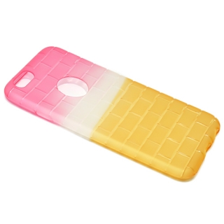 Futrola silikon BRICKS za Iphone 6G/ Iphone 6S pink-zuta