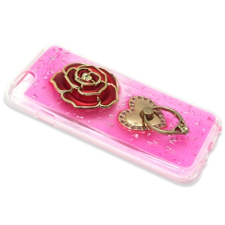 Futrola silikon ROSE RING za Iphone 6G/ Iphone 6S pink