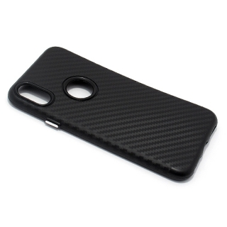 Futrola silikon CARBON za Iphone X crna