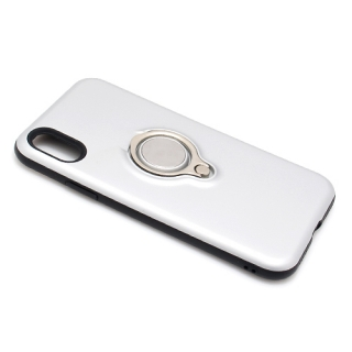 Futrola MAGNETIC RING za Iphone X srebrna