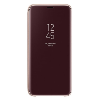 Samsung Galaxy S9 Clear View stojeća futrola zlatna