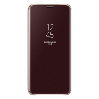 Samsung Galaxy S9 plus Clear View stojeća futrola zlatna