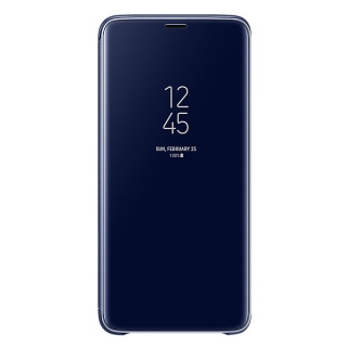 Samsung Galaxy S9 plus Clear View stojeća futrola plava