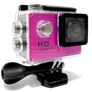 ACTION kamera Comicell 1080p Ful HD Wi-Fi 140 pink