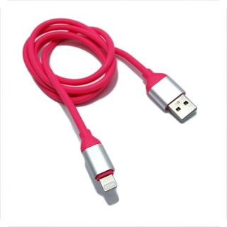 USB data kabal Q Elastic za Iphone lightning pink