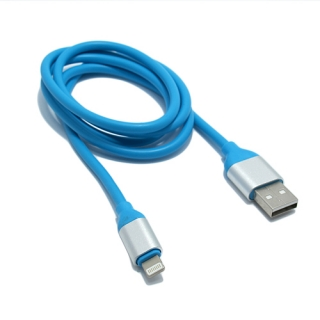 USB data kabal Q Elastic za Iphone lightning plavi