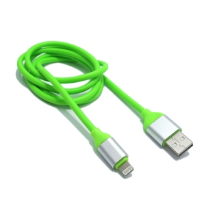 USB data kabal Q Elastic za Iphone lightning zeleni