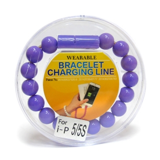 USB kabal BRACELET za Iphone lightning ljubicasti