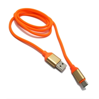 USB data kabal Q Elastic Type C narandzasti