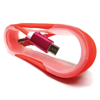 USB data kabal MREZA microUSB pink