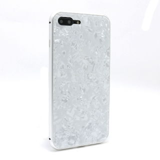 Futrola Magnetic Glass Crystal za Iphone 7 Plus/Iphone 8 Plus bela