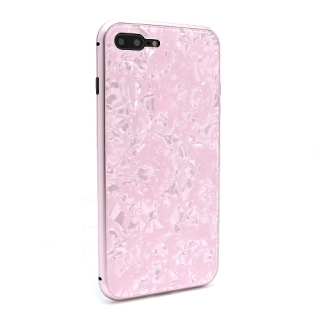 Futrola Magnetic Glass Crystal za Iphone 7 Plus/Iphone 8 Plus roze