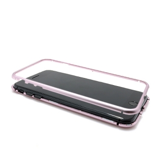 Futrola Magnetic Glass Crystal za Iphone 7 Plus/8 Plus roze Futrola Magnetic Glass Crystal za Iphone 7 Plus/Iphone 8 Plus roze