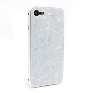 Futrola Magnetic Glass Crystal za Iphone 7/Iphone 8 bela