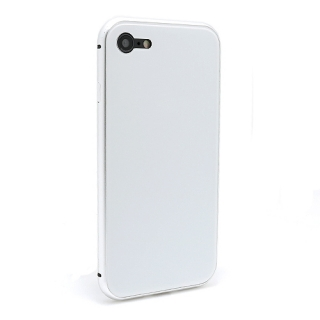 Futrola Magnetic Glass Frame za Iphone 7/Iphone 8 bela