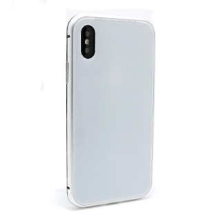 Futrola Magnetic Glass Frame za Iphone X bela
