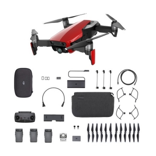 DJI DRON MAVIC Air Flame Red Fly More Combo