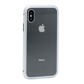 Futrola Magnetic frame za Iphone X srebrna