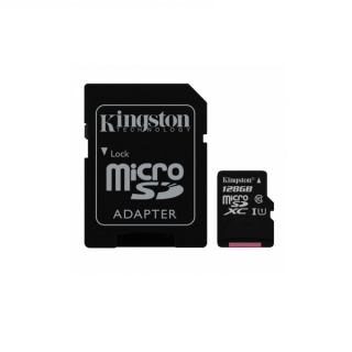 KINGSTON Micro SD 128GB + Adapter class 10 Canvas Select