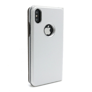 Futrola BI FOLD CLEAR VIEW za Iphone X srebrna