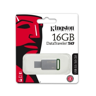 Fleš pen 16GB metalni Data Traveler 50 Kingston
