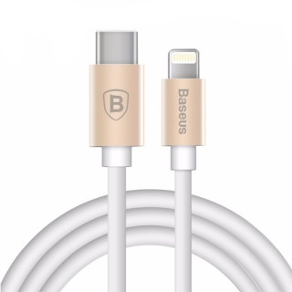 USB data kabal BASEUS Gather sa Type C na Iphone lightning belo-zlatni