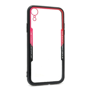 Futrola BACK CLEAR za Iphone XR crno-crvena