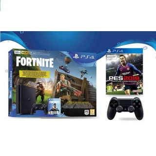 Sony PlayStation 4 500GB Fortnite+extra DS4+PES 2019