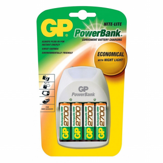 Punjac standardni PowerBank PB11GS270-UE4 + 4x2600mAh AA NiMh GP