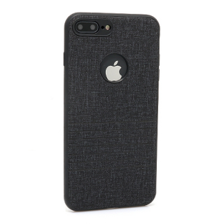 Futrola silikon Embossed za Iphone 7 Plus crna