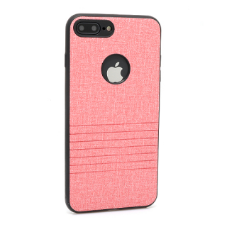 Futrola silikon Embossed za Iphone 7 Plus roze