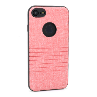 Futrola silikon Embossed za Iphone 7 roze