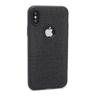 Futrola silikon Embossed za Iphone X crna