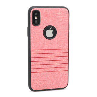 Futrola silikon Embossed za Iphone X roze