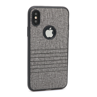 Futrola silikon Embossed za Iphone X siva