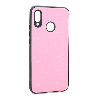 Futrola I LOVE YOU za Huawei P20 Lite roze