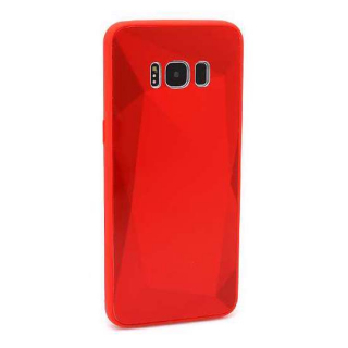 Futrola CRYSTAL COLOR za Samsung G950F Galaxy S8 crvena